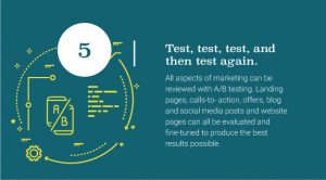 Test all aspects of marketing