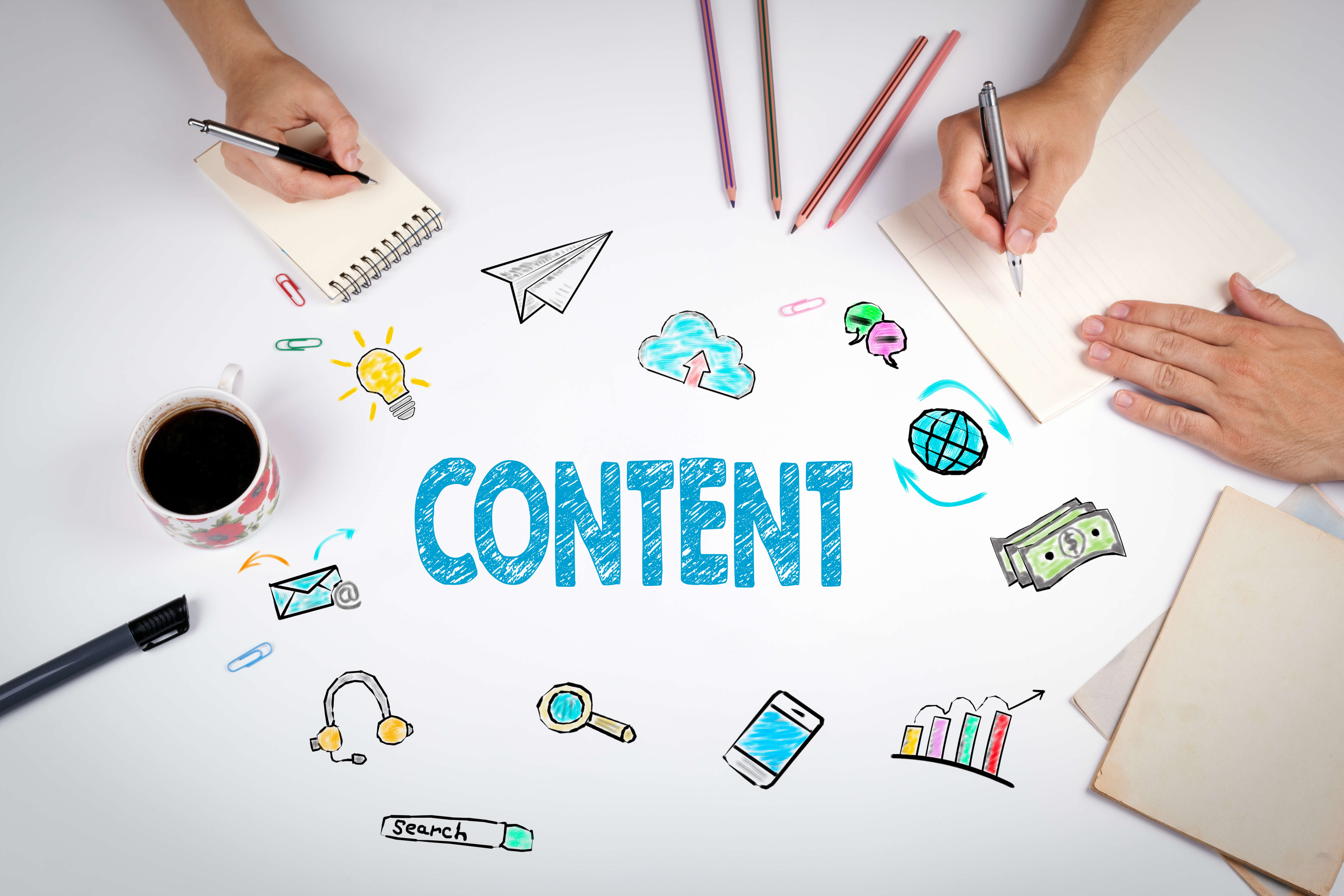 content development is key to being visible on google search results